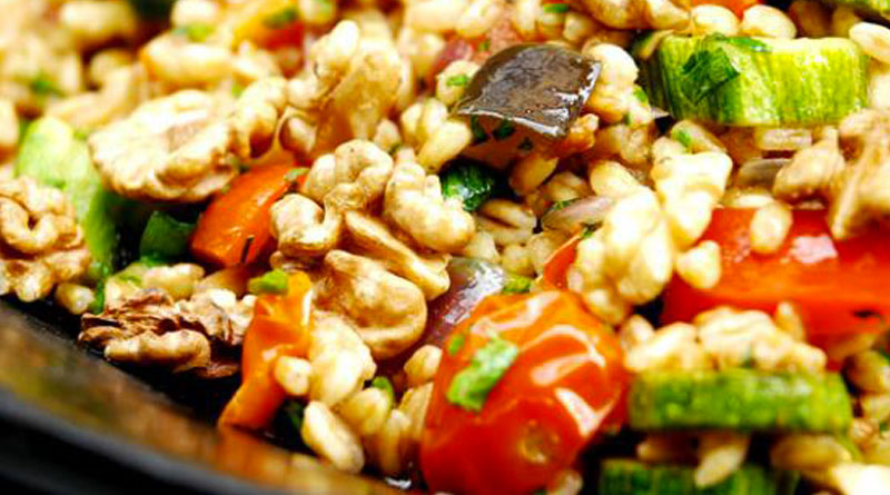ricetta insalata di farro zucchine bimby