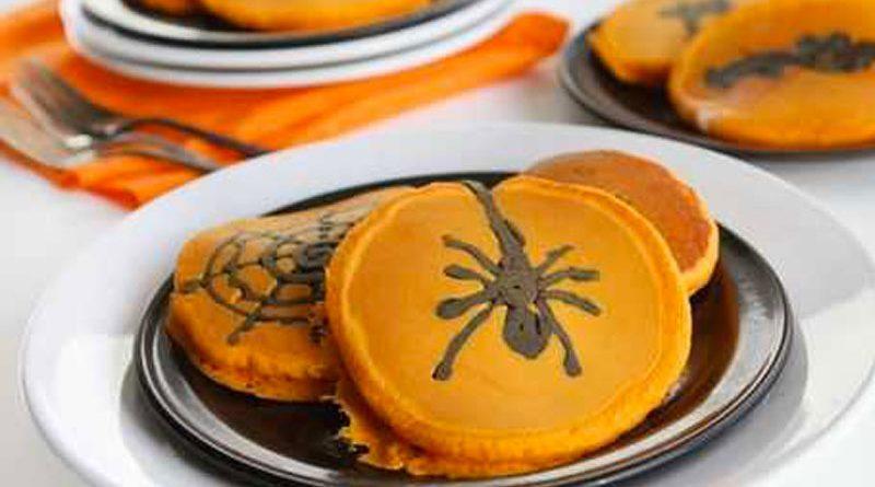 Pancakes alla zucca Halloween