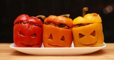 Peperoni ripieni ricetta per Halloween